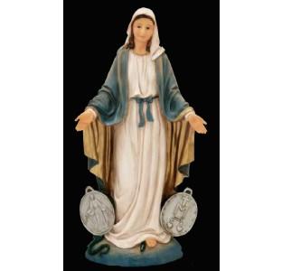 Nossa Senhora das Graças Medalha Milagrosa 07cm resina importada