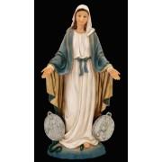 Nossa Senhora das Graças Medalha Milagrosa 10cm resina importada
