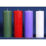 Vela Coroa do Advento - 4 cores litúrgicas - 22x5cm - kit com 4 velas