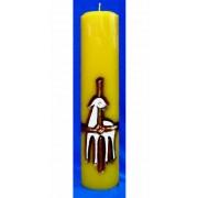 Vela entalhada para altar - 30x7cm -  Cordeiro Imolado