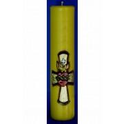 Vela entalhada para altar - 30x7cm - Sagrado Coração de Jesus