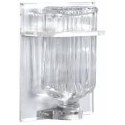 Pia para Água Benta grande 51 - garrafa de vidro e suporte acrílico - Parede