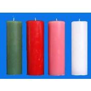 Vela Coroa do Advento - 4 cores litúrgicas com rosa - 22x7cm - kit com 4 velas