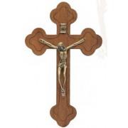 Crucifixo em madeira de parede - 19cm  - ouro velho