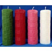 Vela Coroa do Advento - 4 cores litúrgicas Frisada - 22x7cm - kit com 4 velas