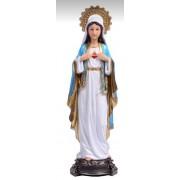 Sagrado Coração de Maria 20cm resina importada - Estilo Angelus