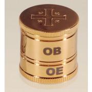Vaso de Santo Óleo 2 partes - Dourado